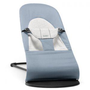 BABYBJÖRN Wipstoel Balance Soft Cotton/ jersey blauw/grijs