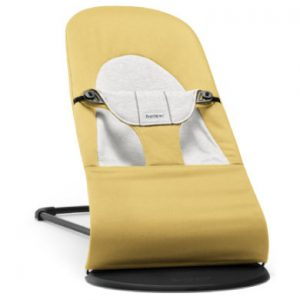 BABYBJÖRN Wipstoel Balance Soft Cotton/ jersey geel/grijs