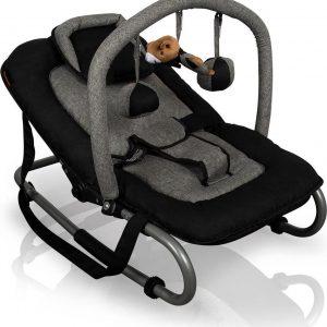 Baninni Wipstoel met speelboog - Schommelstoel - Baby Relax - Admiro Zwart-grijs