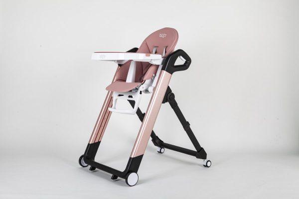 Blij'r Tonie - Robuuste multifunctionele eet- en kinderstoel aluminium - roze