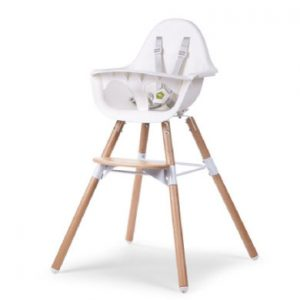 CHILDHOME Kinderstoel Evolu 2 natuur / wit 2 in 1 + Ring