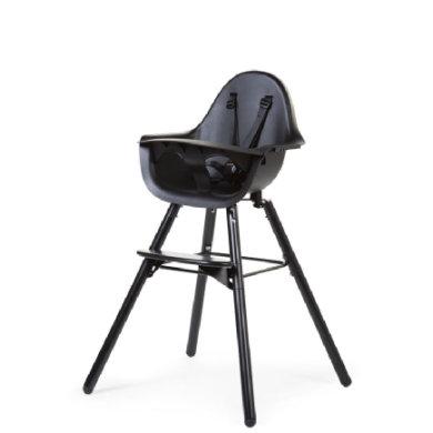 CHILDHOME Kinderstoel Evolu 2 zwart / zwart 2 in 1 + Ring