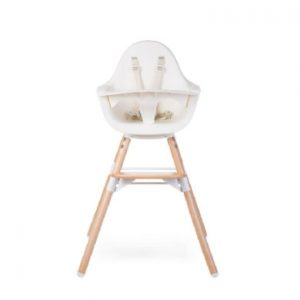 CHILDHOME Kinderstoel Evolu ONE.80° natuur / wit 2 in 1 + Ring