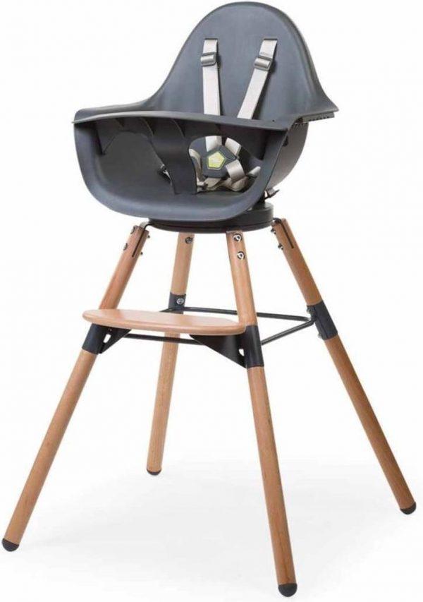 CHILDWOOD Kinderstoel 2-in-1 Evolu One.80° antraciet CHEVO180NA