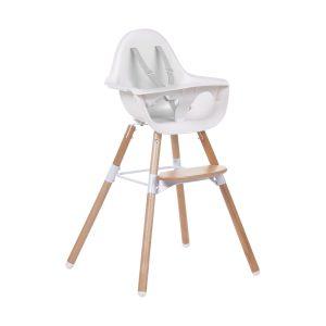 Childhome Evolu 2-in-1 Kinderstoel Naturel / Wit