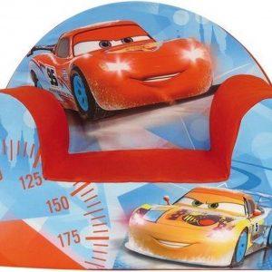 Disney Cars kinderstoel/kinderfauteuil 33 x 52 x 42 cm kindermeubels - Lightning/Bliksem McQueen en Cruz Ramirez - Kinderkamer meubeltjes - Stoelen/fauteuils voor jongens/meisjes/kinderen