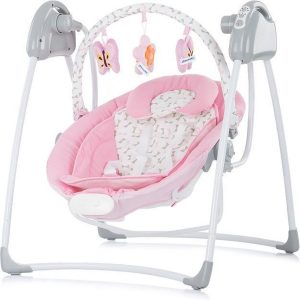 Elektrische babyschommel 2 in 1, schommelstoel Chipolino Paradise roze