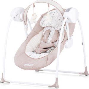 Elektrische babyschommel Chipolino Lullaby mokka, schommelstoel met bluetooth