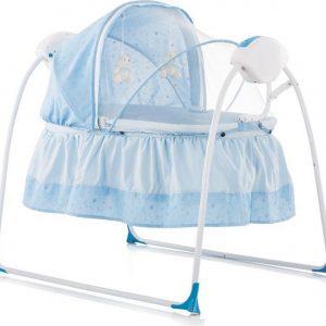Elektrische babyschommel chipolino Rock a Bye blauw de 2 in 1 schommelstoel!