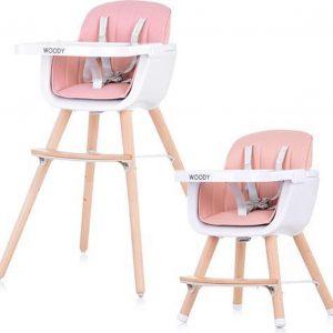 Kinderstoel Chipolino Woody roze mee groei stoel geschikt vanaf 6+ maanden
