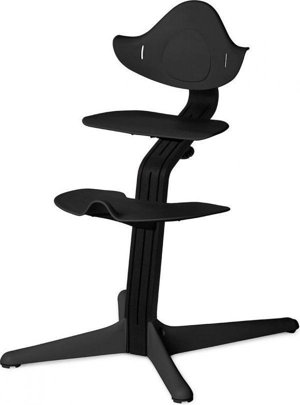 NOMI highchair kinderstoel meegroeistoel Basis eiken zwart stained en stoel zwart