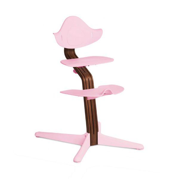 Nomi Walnut Kinderstoel Pale Pink