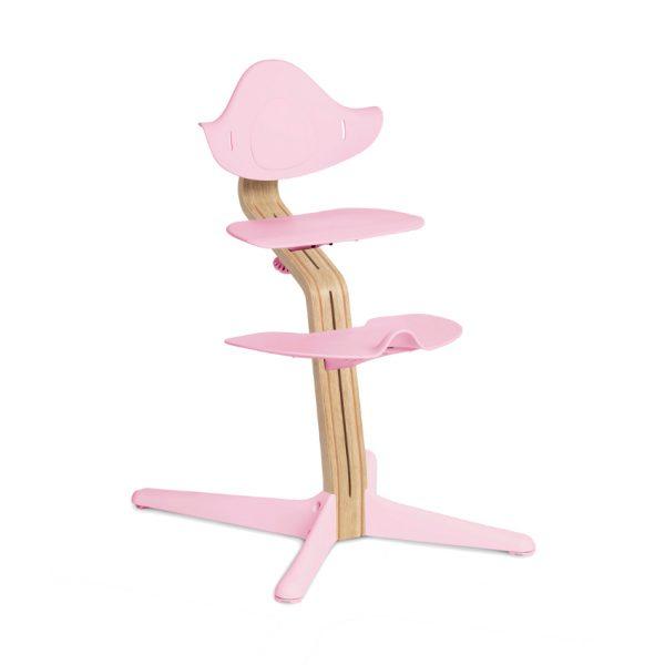 Nomi White Oak Kinderstoel Pale Pink