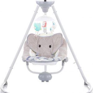 Schommelstoel Chipolino Aida Grijs Dumbo, geschikt voor newborns!