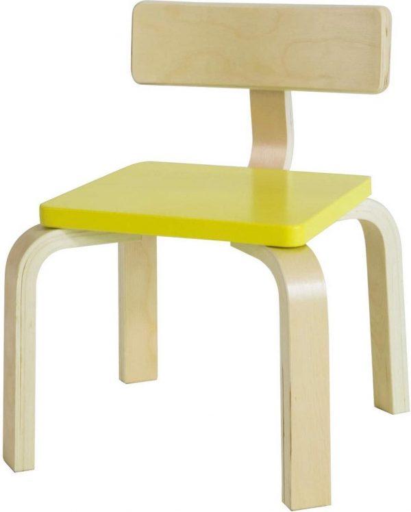 Simpletrade Kinderstoel - Stoel kind - Ergonomisch - Geel - 33x43x33 cm