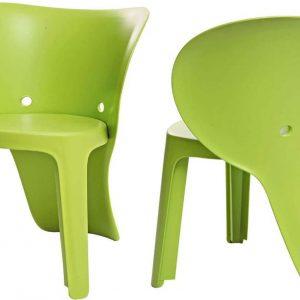 Simpletrade Kinderstoel - Stoelen - Olifant - Set van 2 - Groen - 48x55x41 cm