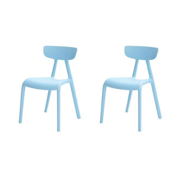 Simpletrade Kinderstoel - Stoelen - Set van 2 - Milieuvriendelijk - Blauw - 36x58x40 cm