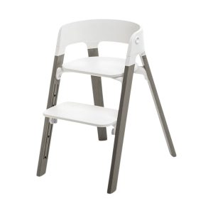 Stokke® Steps™ Kinderstoel White Hazy Grey