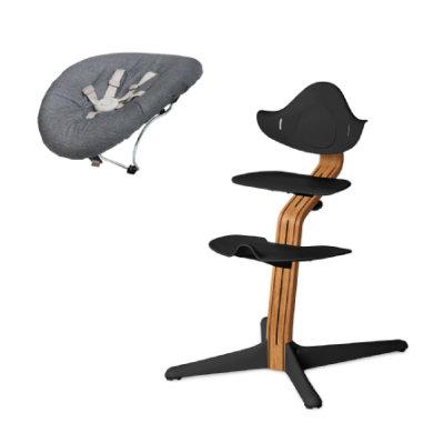 nomi by evomove Kinderstoel Complete Set met wipstoel geolied zwart