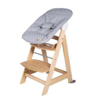 roba Born Up trap kinderstoel naturel Set 2 in 1 incl. Style grijze top