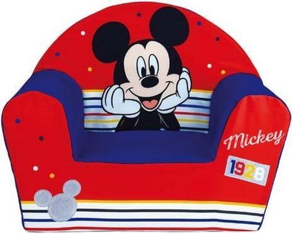 Disney Mickey Mouse kinderstoel/kinderfauteuil 33 x 52 x 42 cm kindermeubels - Kinderkamer meubeltjes - Stoelen/fauteuils voor meisjes/kinderen