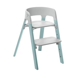Stokke® Steps™ Kinderstoel Grey - Aqua Blue