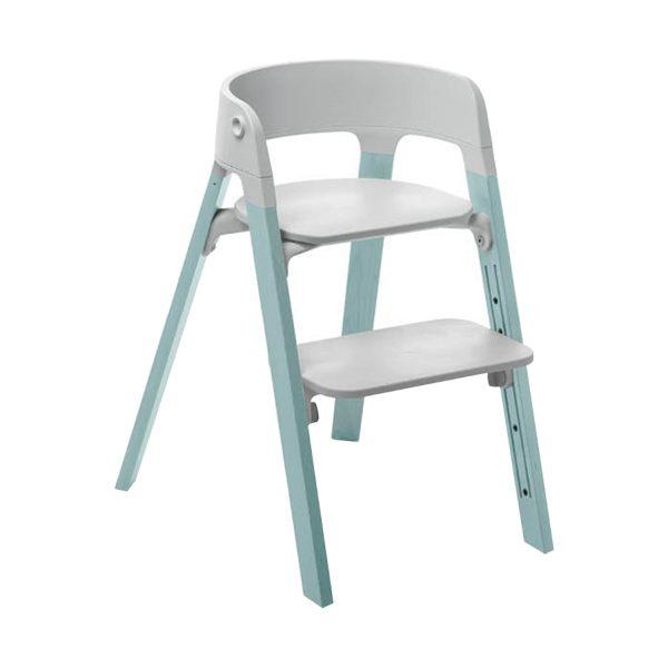 Stokke® Steps™ Kinderstoel Grey - Aqua Blue