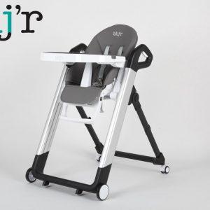 Blij'r Tonie - Robuuste multifunctionele eet- en kinderstoel aluminium - zwart