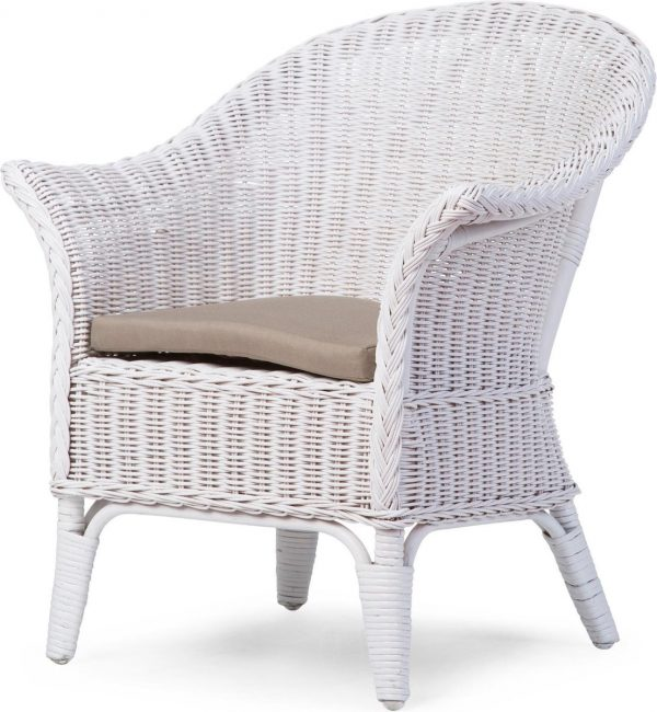 Childhome Mimo Wicker Kinderstoel wit + CUSHION