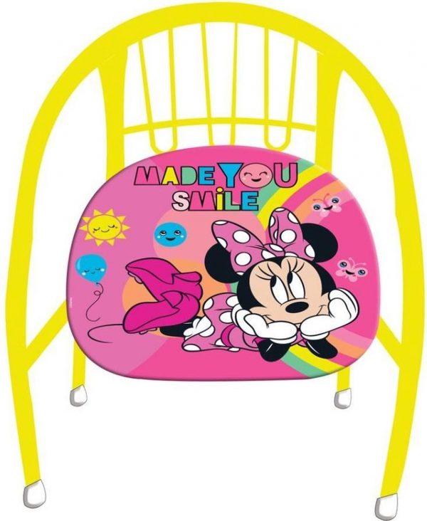 Disney Kinderstoel Minnie Mouse Meisjes 36 Cm Staal Geel/roze