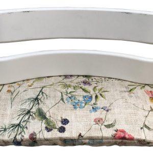 Geplastificeerd zitkussen voor de Tripp Trapp kinderstoel van Stokke - Linnen flowers