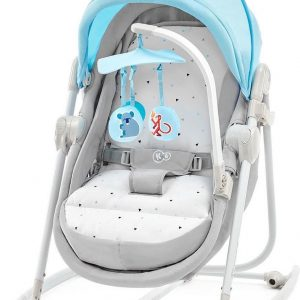 Kinderkraft Unimo 5in1 Wieg - Wipstoel - Schommelstoel Light Blue