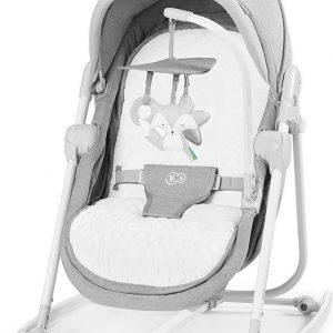 Kinderkraft Unimo 5in1 Wieg - Wipstoel - Schommelstoel Stone Grey