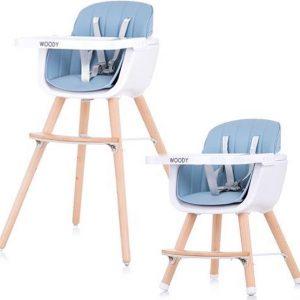 Kinderstoel Chipolino Woody blauw mee groei stoel geschikt vanaf 6+ maanden