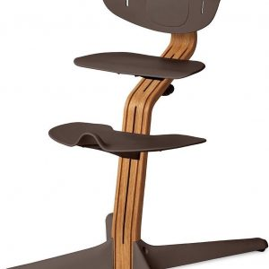 NOMI highchair kinderstoel Basis eiken nature oiled en stoel coffee