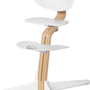 NOMI highchair kinderstoel meegroeistoel Basis eiken wit oiled en stoel wit