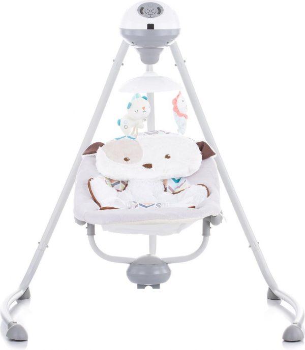 Schommelstoel Chipolino Aida Grijs Doggie, geschikt voor newborns!