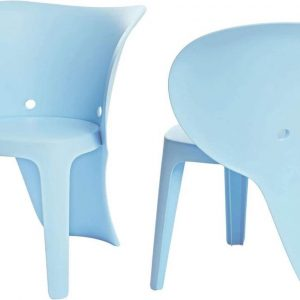Simpletrade Kinderstoel - Stoelen - Olifant - Set van 2 - Blauw - 48x55x41 cm
