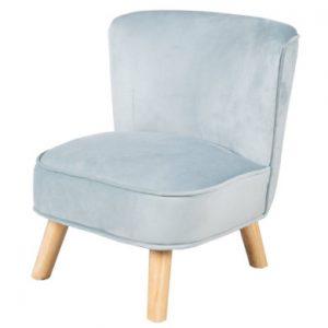 roba Kinderstoel fluweel lichtblauw