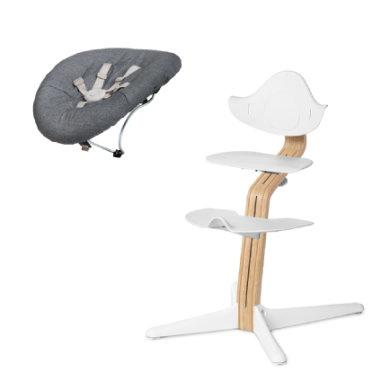 nomi by evomove Kinderstoel Complete Set met wipstoel geolied wit