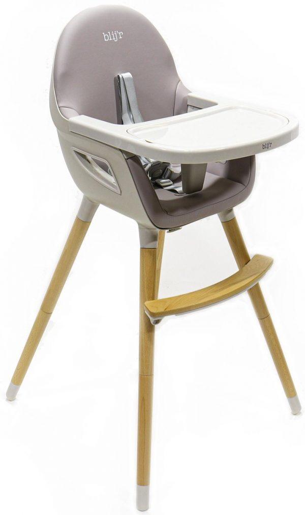 Blij'r Bobbie - 2 in 1 Eetstoel & Kinderstoel - Grijs
