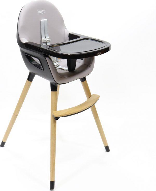 Blij'r Bobbie - 2 in 1 Eetstoel & Kinderstoel - zwart