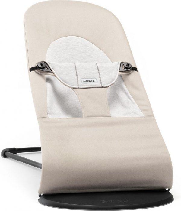 BABYBJÖRN Wipstoel Balance Soft - Beige-Grijs Cotton-Jersey