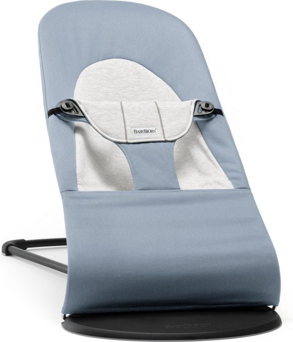 BABYBJÖRN Wipstoel Balance Soft - Blauw-Grijs Cotton-Jersey