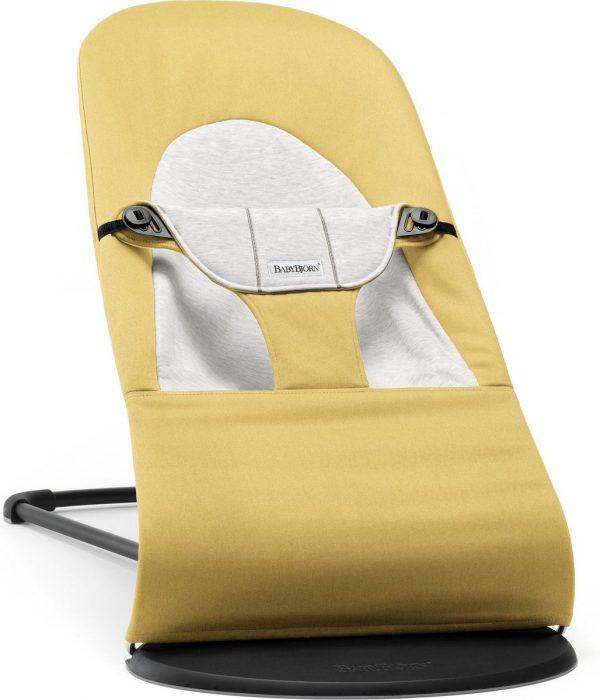 BABYBJÖRN Wipstoel Balance Soft - Geel-Grijs Cotton-Jersey