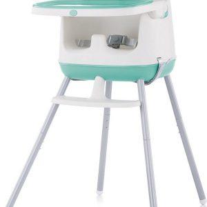Kinderstoel 3 in 1 Pudding mint Chipolino modern en vrolijk tafelen!