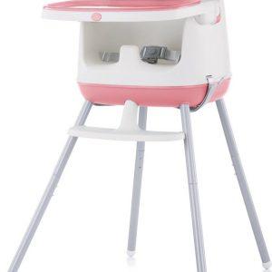 Kinderstoel 3 in 1 Pudding roze Chipolino modern en vrolijk tafelen!