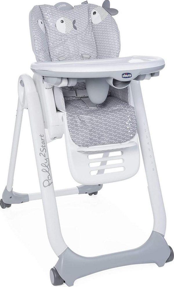 Chicco Polly 2 Start Kinderstoel - Baby eetstoel - Verstelbare rugleuning - Hoogte verstelbaar - Dots
