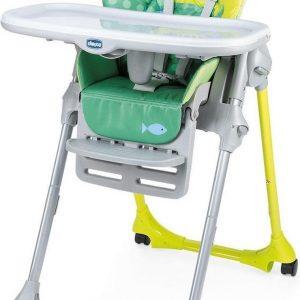 Chicco Polly Easy Kinderstoel - Inklapbare baby eetstoel - Met stoelverkleiner - Hoogte verstelbaar - Crocodille