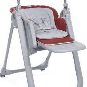 Chicco Polly Magic Relax Kinderstoel - Meegroeistoel - Baby eetstoel - Inclusief speelboog - red passion